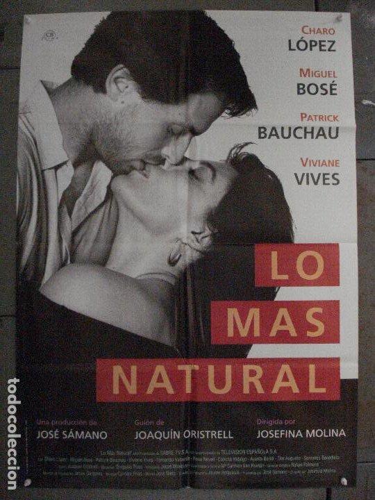 CDO L874 LO MAS NATURAL MIGUEL BOSE CHARO LOPEZ POSTER ORIGINAL 70X100 ESTRENO (Cine - Posters y Carteles - Clasico Español)