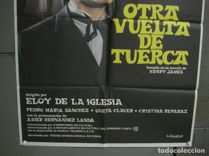 Cine: CDO L875 OTRA VUELTA DE TUERCA ELOY DE LA IGLESIAS POSTER ORIGINAL 70X100 ESTRENO - Foto 3 - 276939878