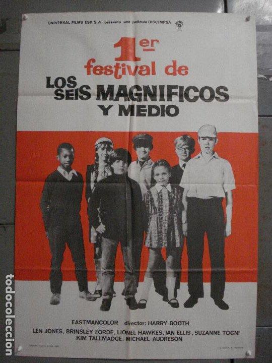 CDO L876 1ER FESTIVAL DE LOS SEIS MAGNIFICOS Y MEDIO HARRY BOOTH POSTER ORIGINAL 70X100 ESTRENO (Cine - Posters y Carteles - Clasico Español)