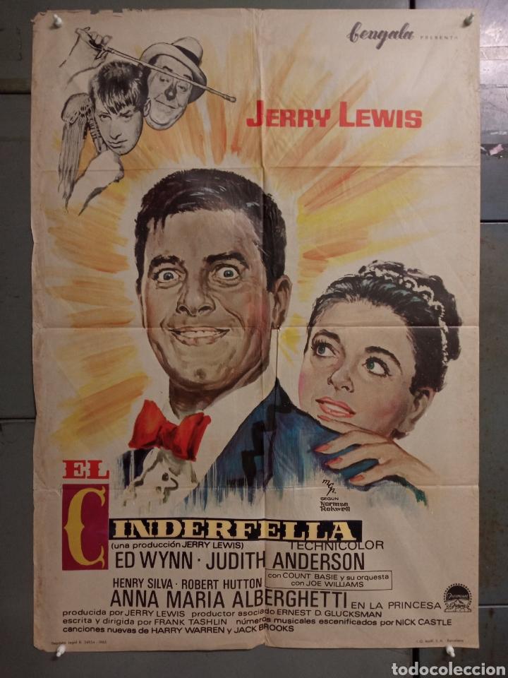 LM63 EL CENICIENTO CINDERFELLA JERRY LEWIS MCP POSTER ORIGINAL 70X100 ESTRENO (Cine - Posters y Carteles - Comedia)