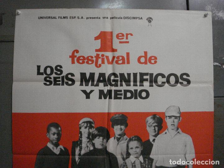 Cine: CDO L876 1er FESTIVAL DE LOS SEIS MAGNIFICOS Y MEDIO HARRY BOOTH POSTER ORIGINAL 70X100 ESTRENO - Foto 2 - 276940703
