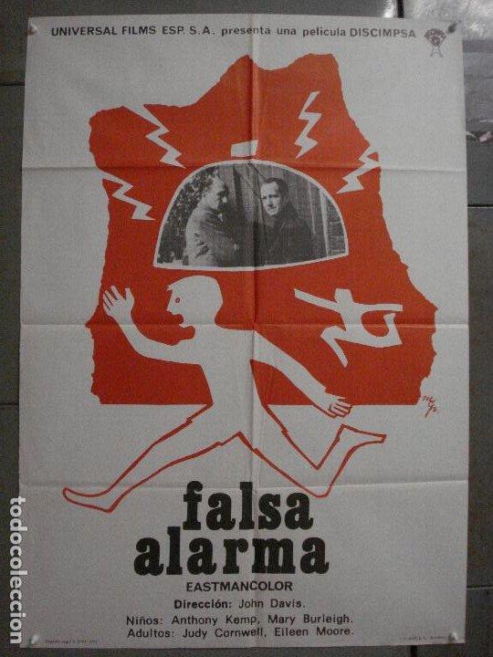 CDO L877 FALSA ALARMA JOHN DAVIS POSTER ORIGINAL 70X100 ESTRENO (Cine - Posters y Carteles - Acción)