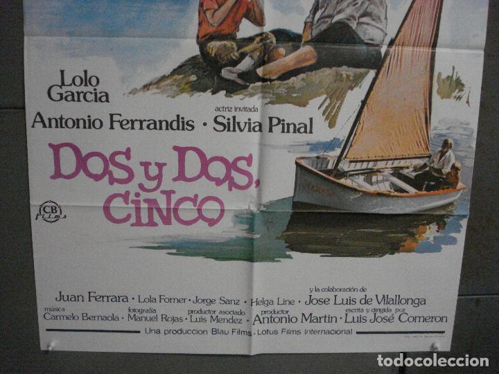 Cine: CDO L878 DOS Y DOS CINCO LOLO GARCIA ANTONIO FERRANDIS POSTER ORIGiNAL 70X100 ESTRENO - Foto 3 - 276944043