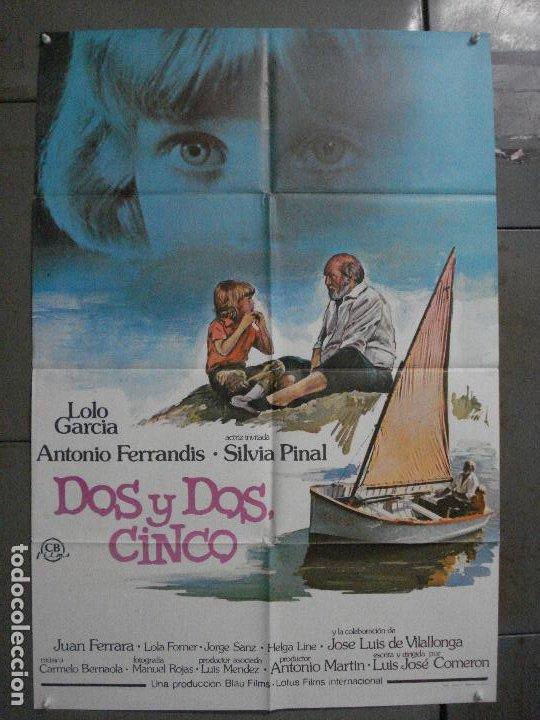 CDO L878 DOS Y DOS CINCO LOLO GARCIA ANTONIO FERRANDIS POSTER ORIGINAL 70X100 ESTRENO (Cine - Posters y Carteles - Clasico Español)