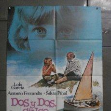 Cine: CDO L878 DOS Y DOS CINCO LOLO GARCIA ANTONIO FERRANDIS POSTER ORIGINAL 70X100 ESTRENO. Lote 276944043