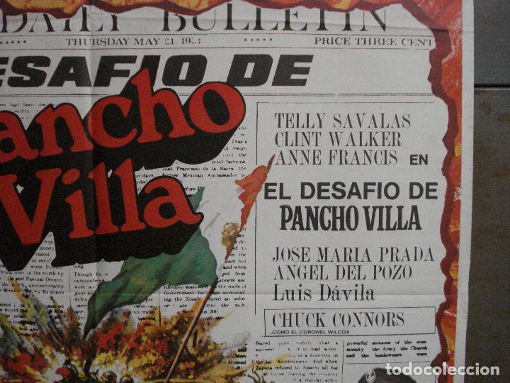Cine: CDO L879 EL DESAFIO DE PANCHO VILLA TELLY SAVALAS EUGENIO MARTIN MAC POSTER ORIGiNAL 70X100 ESTRENO - Foto 7 - 276952833