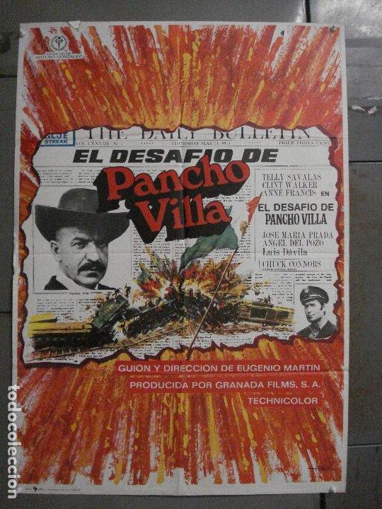 CDO L879 EL DESAFIO DE PANCHO VILLA TELLY SAVALAS EUGENIO MARTIN MAC POSTER ORIGINAL 70X100 ESTRENO (Cine - Posters y Carteles - Westerns)
