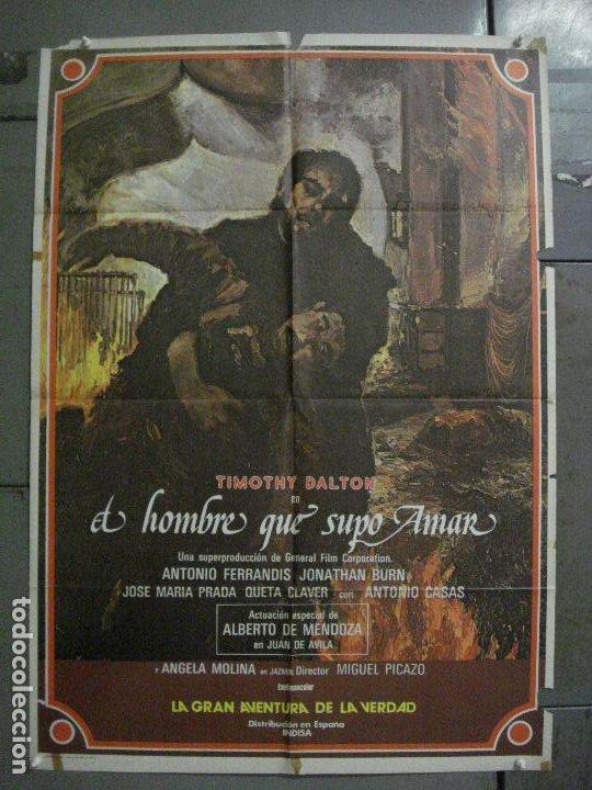 CDO L880 EL HOMBRE QUE SUPO AMAR TIMOTHY DALTON ANTONIO FERRANDIS POSTER ORIGINAL 70X100 ESTRENO (Cine - Posters y Carteles - Clasico Español)