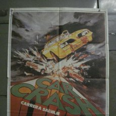 Cine: CDO L889 CAR CRASH AUTOMOVILISMO ANTONIO MARGHERITI POSTER ORIGINAL 70X100 ESTRENO. Lote 277015583