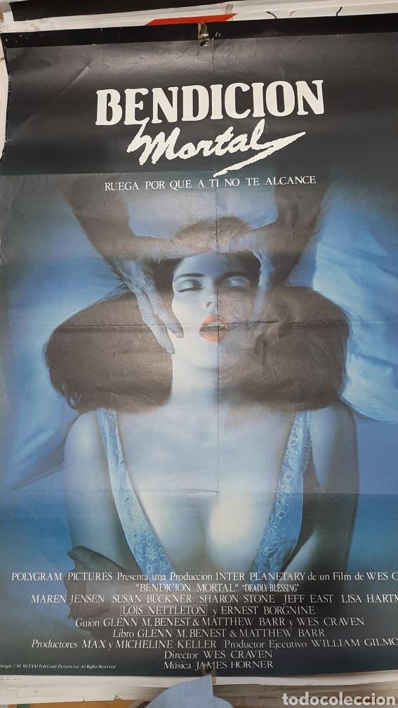 1981 GRAN PÓSTER BENDICION MORTAL RUEGA PARA QUE A TI NO ALCANCE GLOBE TERROR (Cine - Posters y Carteles - Terror)