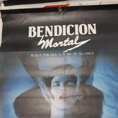 Cine: 1981 GRAN PÓSTER BENDICION MORTAL RUEGA PARA QUE A TI NO ALCANCE GLOBE TERROR. Lote 277047028