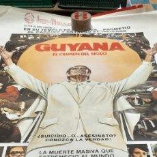 Cine: GUAYANA EL CRIMEN DEL SIGLO CÁRTEL ORIGINAL DE CINE 1979 IZARO FILMS. Lote 277050958