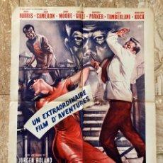 Cine: CARTEL CINE ORIG FRANCÉS LA PHANTERE NOIRE DE RATANA (1963) 60X80 / JÜRGEN ROLAND. Lote 277064378