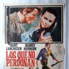 Cine: ANTIGUO CARTEL CINE LOS QUE NO PERDONAN BURT LANCASTER RV P129. Lote 277065883