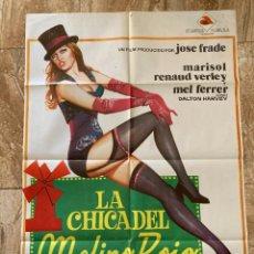 Cine: CARTEL CINE ORIG ESTRENO LA CHICA DEL MOLINO ROJO (1973) 70X100 / MARISOL / JANO. Lote 277066908