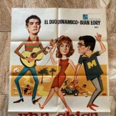 Cine: CARTEL CINE ORIG UNA CHICA PARA DOS (1966) 70X100 / DUO DINAMICO. Lote 277170993