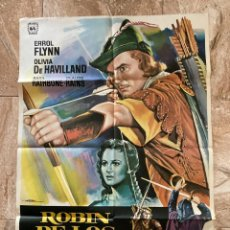 Cine: CARTEL CINE ORIG REESTRENO ROBIN DE LOS BOSQUES (1938) 70X100 / E FLYNN / OLIVIA DE HAVILLAND / MAC. Lote 277171478