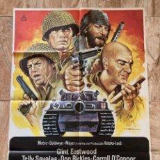 Cine: CARTEL CINE ORIG REESTRENO LOS VIOLENTOS DE KELLY (1970) 70X100 / T SAVALAS / CLINT EASTWOOD / MAC. Lote 277173993