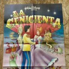 Cine: CARTEL CINE ORIG REESTRENO LA CENICIENTA (1950) 70X100 / WALT DISNEY. Lote 277175308