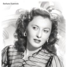 Cine: POSTER BARBARA STANWYCK 1941 - TAMAÑO A3 (33X48,3 CM) PAPEL ESTUCADO 135GRS. Lote 277175703