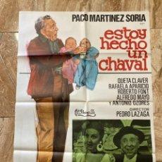 Cine: CARTEL CINE ORIG ESTOY HECHO UN CHAVAL (1976) 70X100 / PACO MARTÍNEZ SORIA / JANO. Lote 277177038