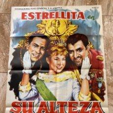 Cine: CARTEL CINE ORIG SU ALTEZA LA NIÑA (1962) 70X100 / JOSÉ LUIS OZORES / MARIANO OZORES. Lote 277177283