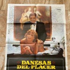 Cine: CARTEL CINE ORIG ESTRENO DANESAS DEL PLACER (1976) 70X100 / OLE SOLTOFT / MAC. Lote 277178308