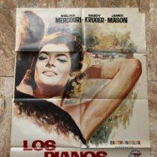 Cine: CARTEL CINE ORIG ESTRENO LOS PIANOS MECANICOS (1965) 70X100 / MELINA MERCOURI / J A BARDEM / JANO. Lote 277179553