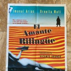 Cine: CARTEL CINE ORIG ESTRENO EL AMANTE BILINGUE (1992) 70X100 / IMANOL ARIAS / ORNELLA MUTI. Lote 277264143
