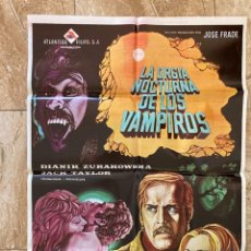 Cine: CARTEL CINE ORIG ESTRENO LA ORGIA NOCTURNA DE LOS VAMPIROS (1972) 70X100 / LEÓN KLIMOVSKY. Lote 277264548