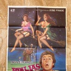 Cine: CARTEL CINE ORIG ESTRENO BRUJAS MAGICAS (1980) 70X100 / ANDRÉS PAJARES. Lote 277266613