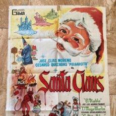 Cine: CARTEL CINE ORIG ESTRENO SANTA CLAUS (1959) 70X100 / RENE CARDONA. Lote 277271483