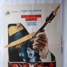 Cine: ANTIGUO CARTEL CINE LA BANDA DE LOS GRISSOM 1971 MONTALBAN RV P130. Lote 277299988