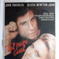 Cine: ANTIGUO CARTEL CINE TAL PARA CUAL TRAVOLA OLIVIA NEWTON RV P133. Lote 277300353