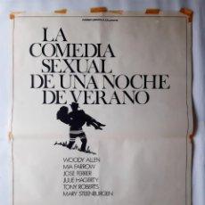 Cine: ANTIGUO CARTEL CINE LA COMEDIA SEXUAL DE UNA NOCHE DE VERANO WOODY ALLEN RV P134. Lote 277300523