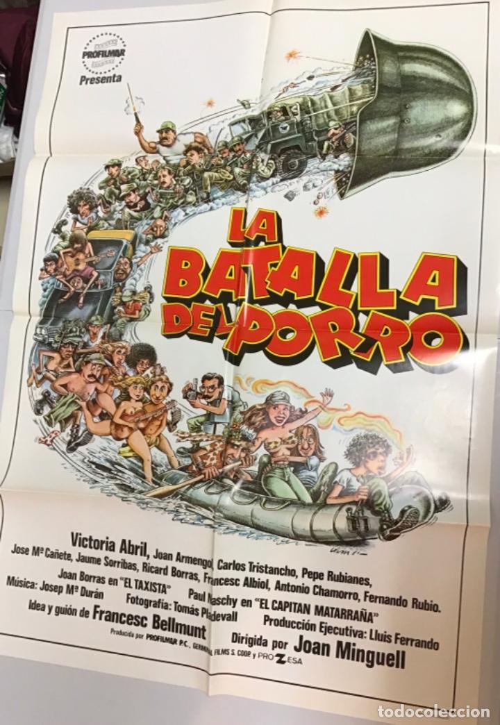 Cine: LOTE DE 19 CARTELES DE CINE ORIGINALES, AÑOS 80 - Foto 30 - 277515018