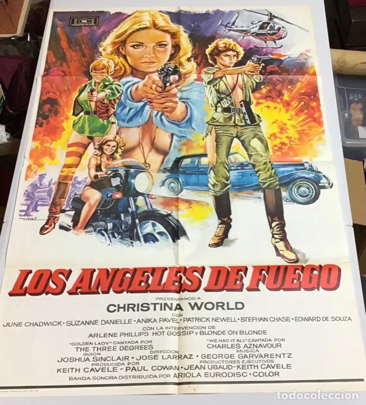Cine: LOTE DE 19 CARTELES DE CINE ORIGINALES, AÑOS 80 - Foto 40 - 277515018