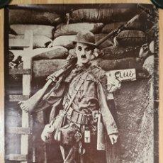 Cine: CARTEL PELÍCULA SHOULDER ARMS ¡ARMAS AL HOMBRO! - CHAPLIN - FILM CINE MUDO CHARLOT SOLDADO GUERRA. Lote 277525933