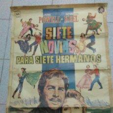Cine: CARTEL DE EPOCA ,SIETE NOVIAS PARA SIETE HERMANOS,ORIGINAL DE EPOCA. Lote 277540263