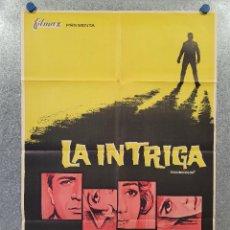 Cine: LA INTRIGA. SHIRLEY JONES, GEORGE SANDERS. GEORGE MARSHALL, VITTORIO SALA. AÑO 1964. POSTER ORIGINAL. Lote 277607643