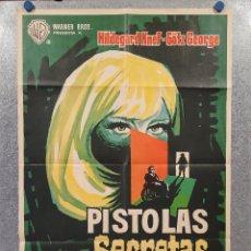 Cine: PISTOLAS SECRETAS. HILDEGARD KNEF, GÖTZ, RICHARD MÜNCH. AÑO 1965. POSTER ORIGINAL. Lote 277609908