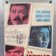 Cine: EL INDULTO. PEDRO ARMENDÁRIZ, CONCHA VELASCO, JOSÉ LUIS SÁENZ DE HEREDIA AÑO 1960. POSTER ORIGINAL. Lote 277610828