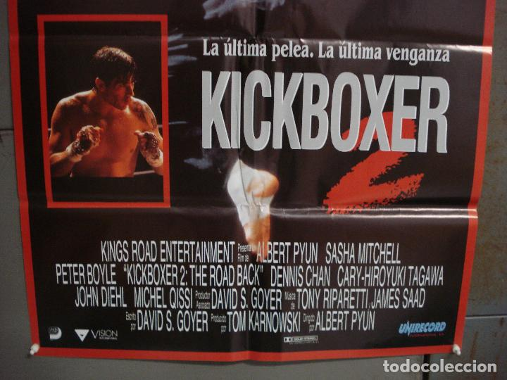 Cine: CDO L968 KICKBOXER 2 SASHA MITCHELL ALBERT PYUN ARTES MARCIALES POSTER ORIGiNAL 70X100 ESTRENO - Foto 3 - 277611118