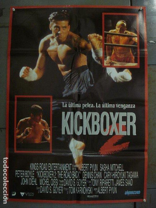 CDO L968 KICKBOXER 2 SASHA MITCHELL ALBERT PYUN ARTES MARCIALES POSTER ORIGINAL 70X100 ESTRENO (Cine - Posters y Carteles - Acción)