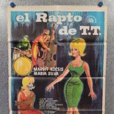 Cine: EL RAPTO DE T.T. MARGIT KOCSIS, MARÍA SILVA, JOSÉ LUIS LESPE AÑO 1965. POSTER ORIGINAL. Lote 277611433