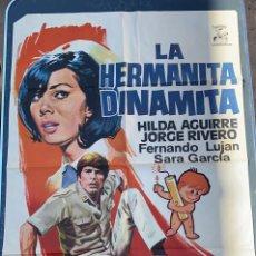 Cine: POSTER DE CINE LA HERMANITA DINAMITA 1970 CON HILDA AGUIRRE. Lote 277621453