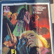 Cine: POSTER DE CINE EL VAMPIRO DE LA AUTOPISTA DELTA FILMS CON WALDEMAR WHFAHRT. Lote 277622703