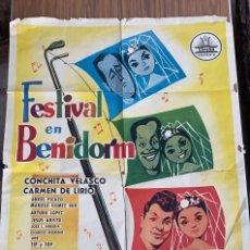 Cine: POSTER DE CINE FESTIVAL EN BENIDORM CIFESA CON CONCHITA VELASCO Y CARMEN DE LIRIO 1960. Lote 277624363