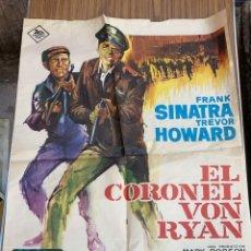 Cine: POSTER DE CINE EL CORONEL VON RYAN 20 CENTURY FOX CON FRANK SINATRA. Lote 277624808