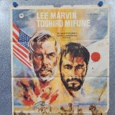 Cine: INFIERNO EN EL PACÍFICO. LEE MARVIN, TOSHIRÔ MIFUNE. AÑO 1979. POSTER ORIGINAL. Lote 277641463